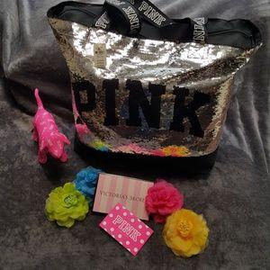 VS PINK Huge Bling Sequin Tote